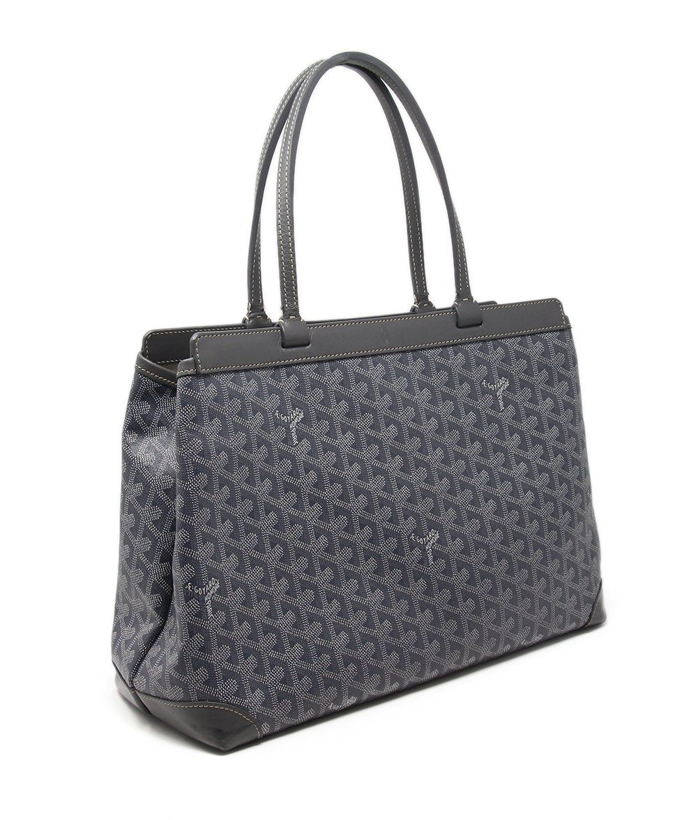 Goyard Grey White Canvas Tote 2