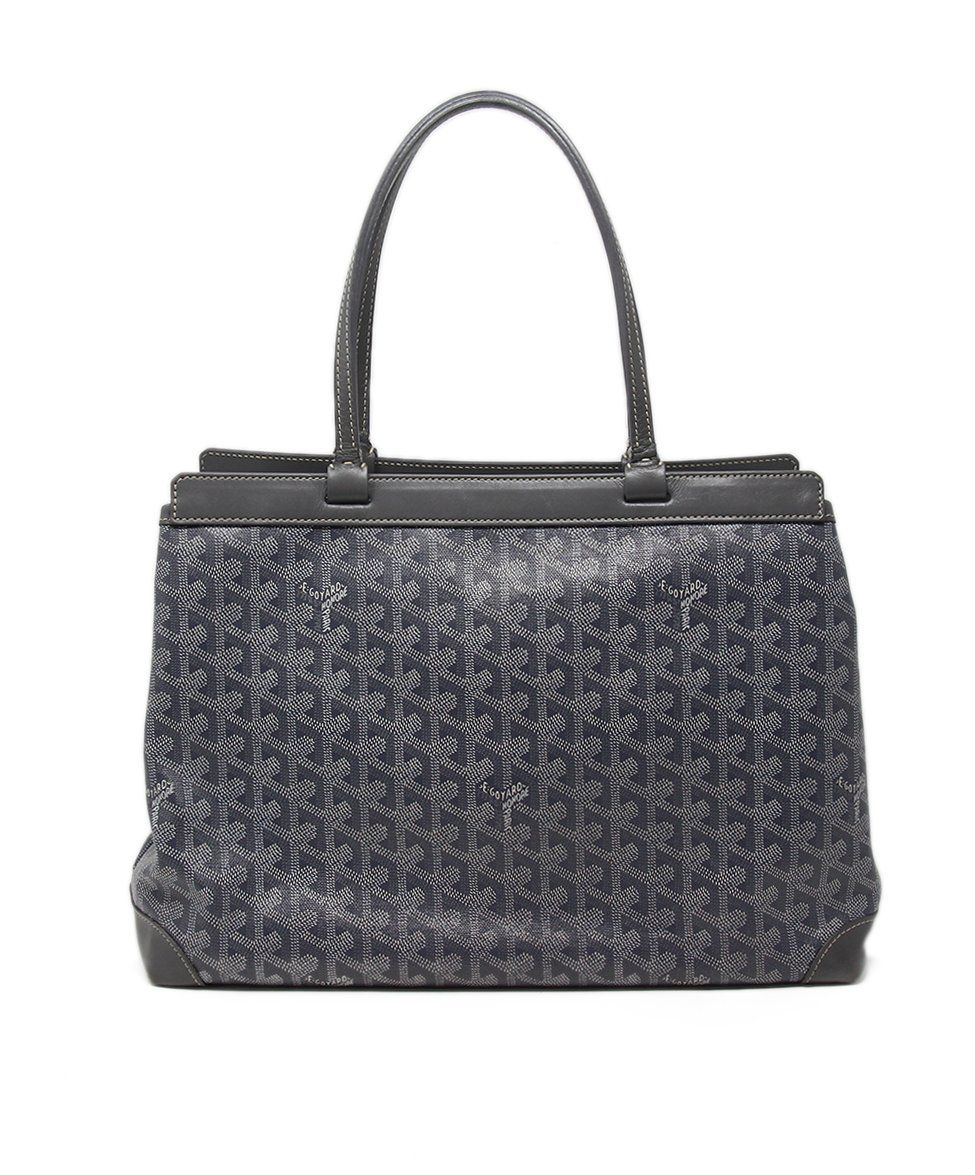Goyard Grey White Canvas Tote 3