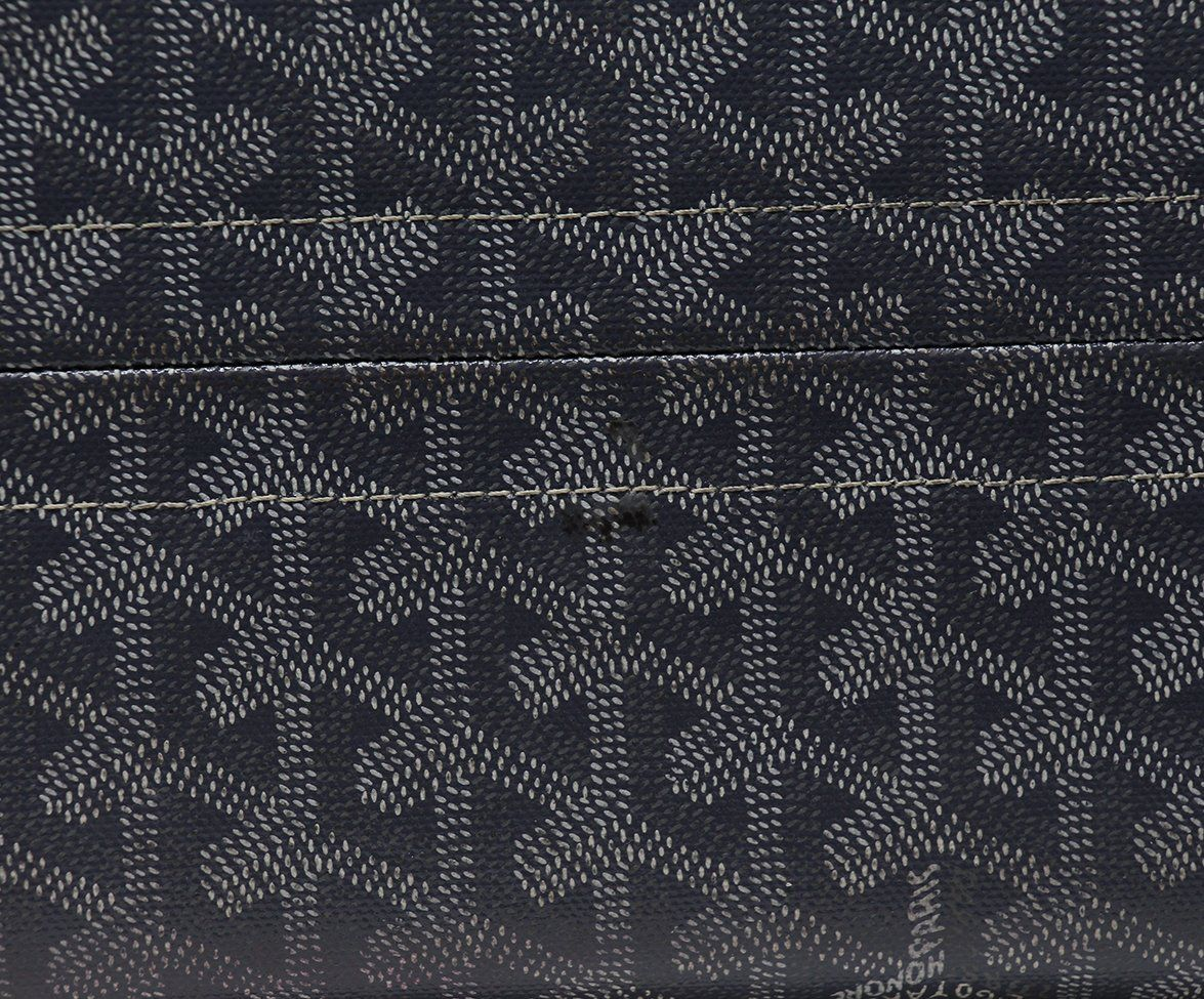 Goyard Grey White Canvas Tote 5