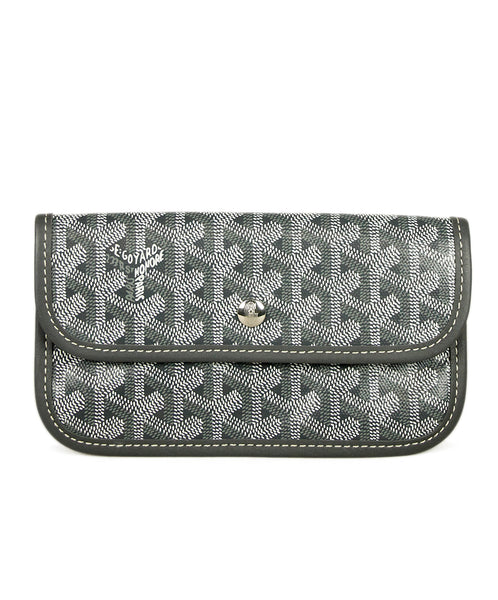 Goyard Grey White Monogram Leather Good 1