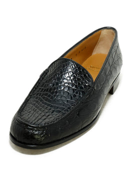 Gravati Black Crocodile Shoes 1