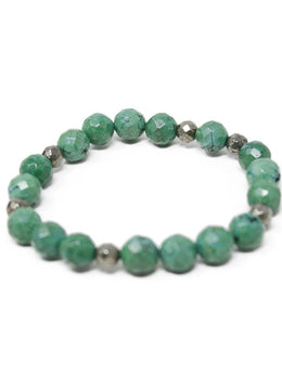 Bracelet Green Beaded Jewelry