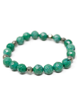 Bracelet Green Beaded Jewelry 1