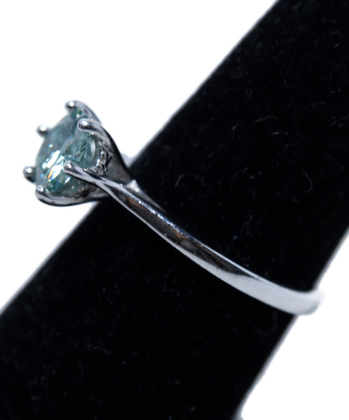 Fine Jewelry 1.9 Carat Green Moissanite Silver Band Ring 2
