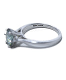 Fine Jewelry 1.9 Carat Green Moissanite Silver Band Ring 3