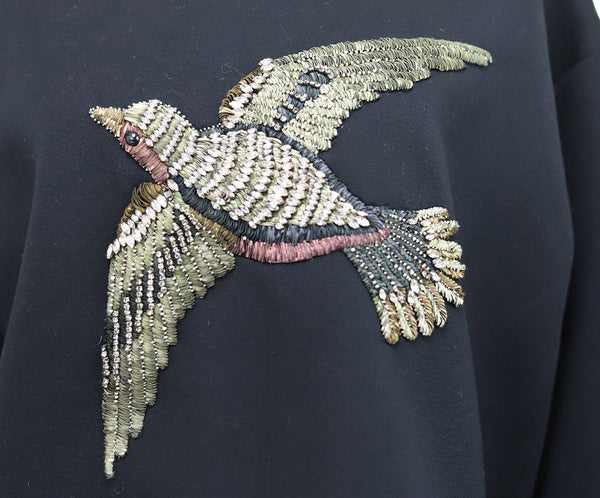 Gucci Black Sweater with Rhinestones Bird Design 5