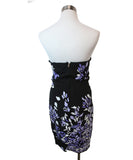 Gucci Black Silk Purple White Sequins Dress 3