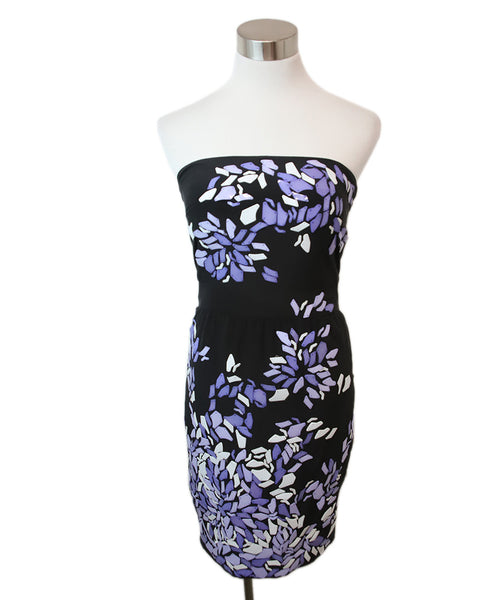Gucci Black Silk Purple White Sequins Dress 1