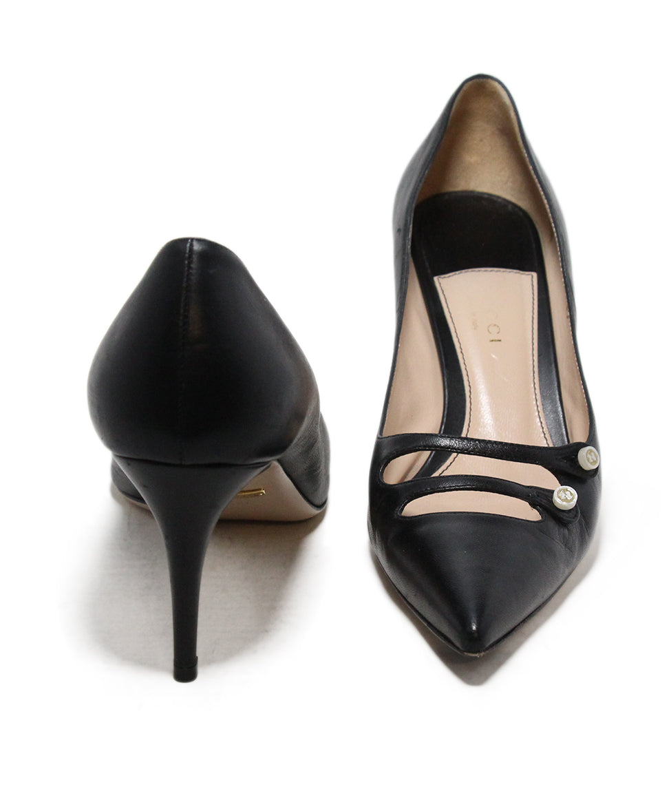 Gucci Black Leather Heels 3