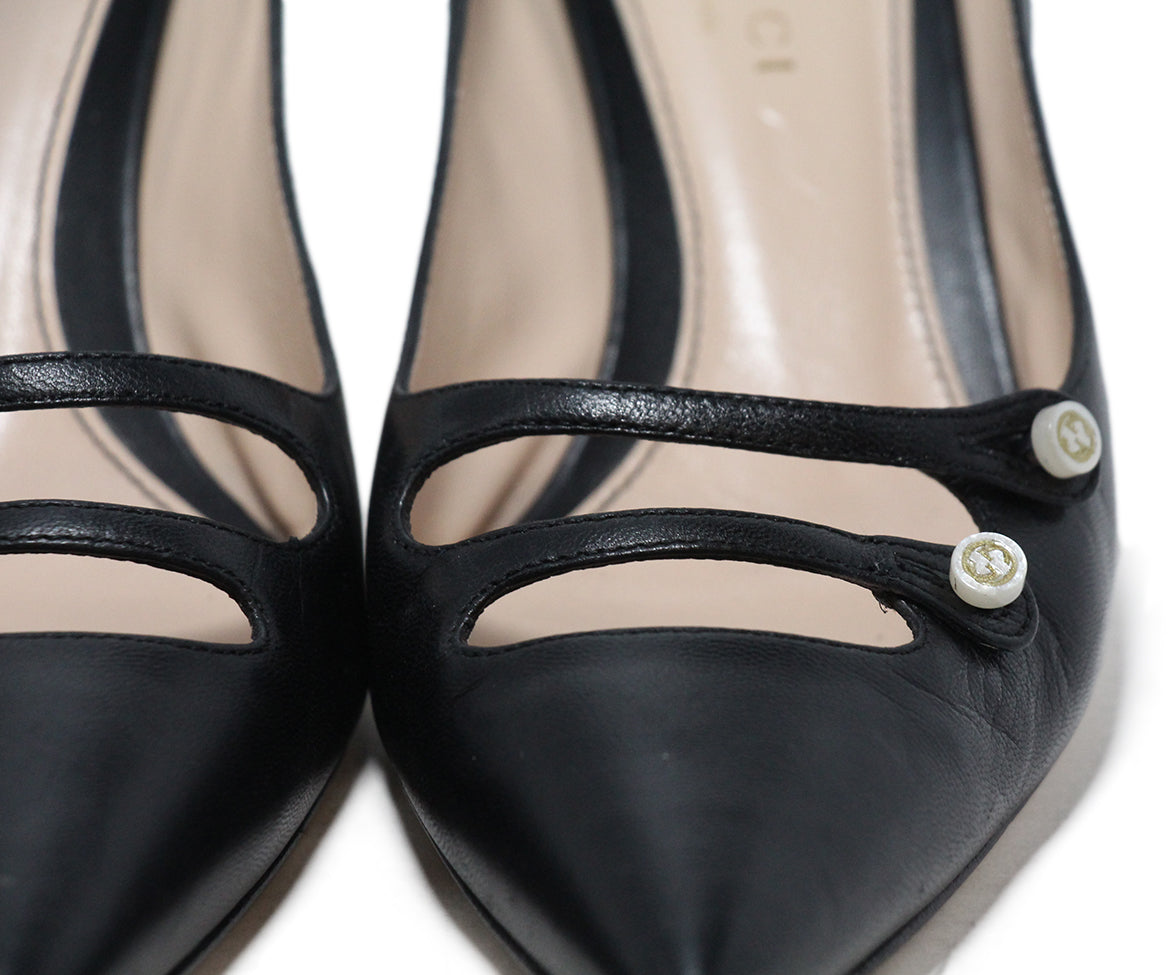 Gucci Black Leather Heels 8