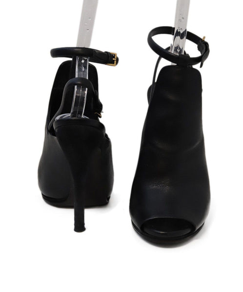 Gucci Black Leather Suede Heels 2