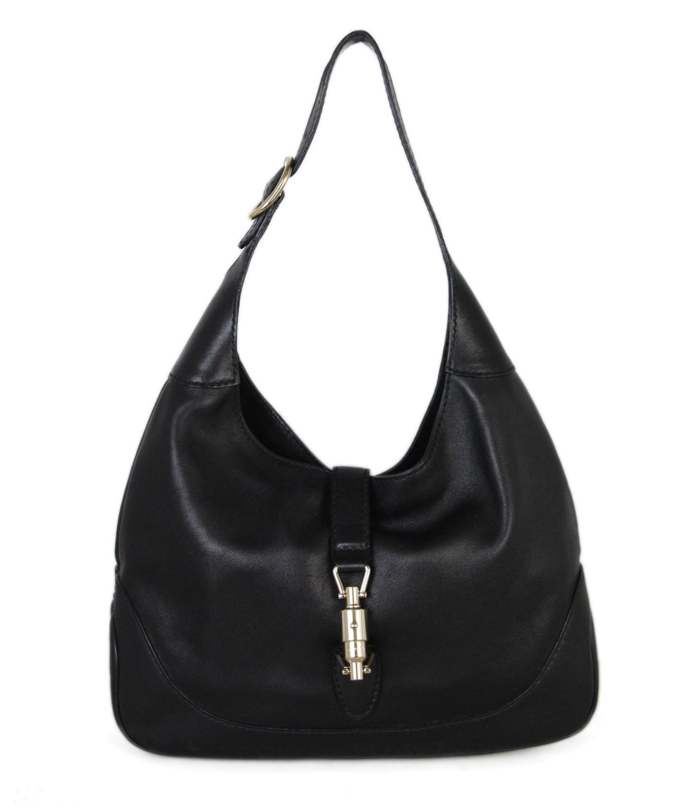 Gucci Black Leather Hobo Bag 1