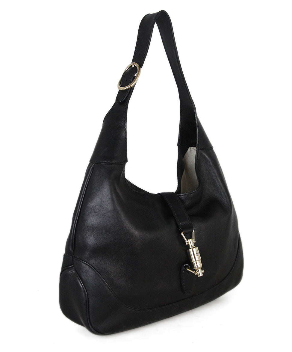 Gucci Black Leather Hobo Bag 2