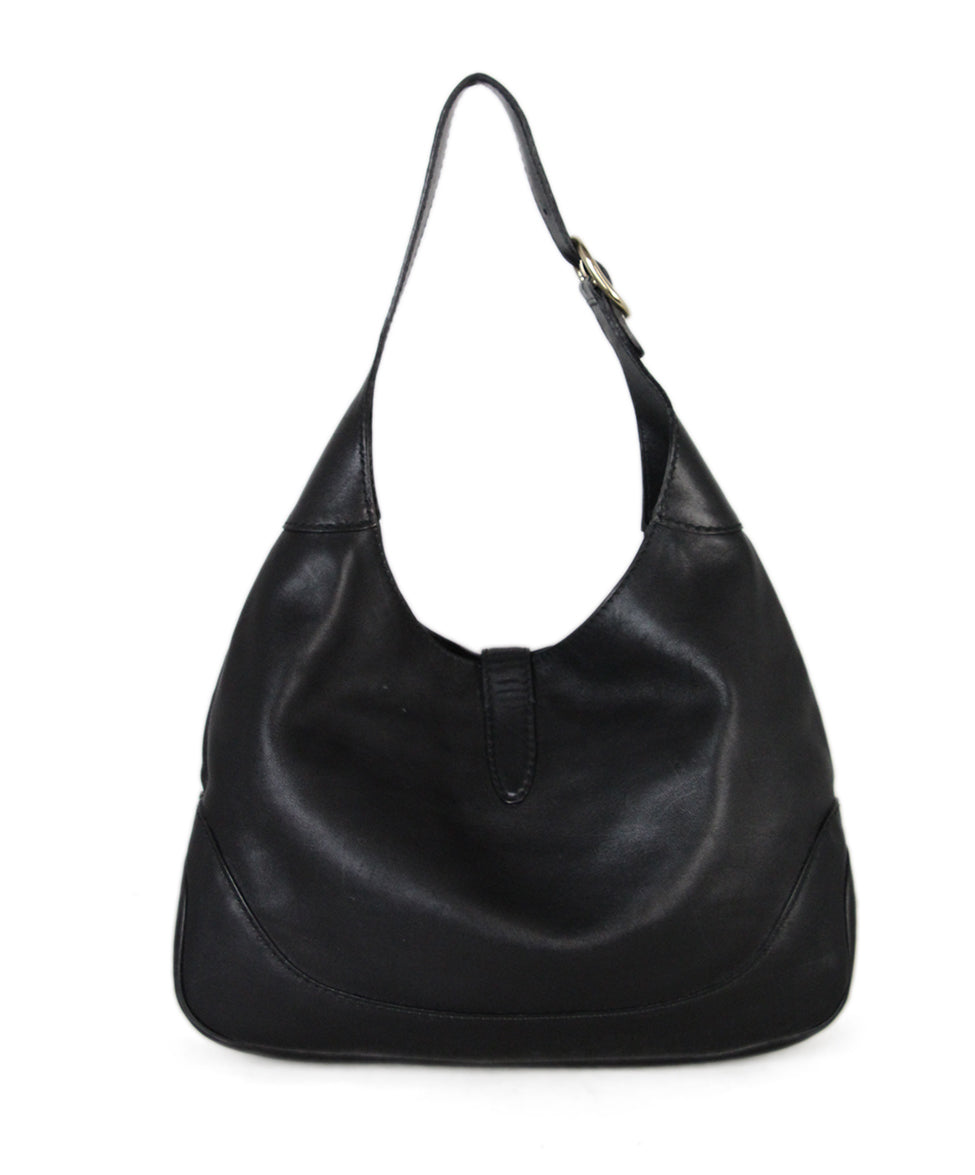 Gucci Black Leather Hobo Bag 3
