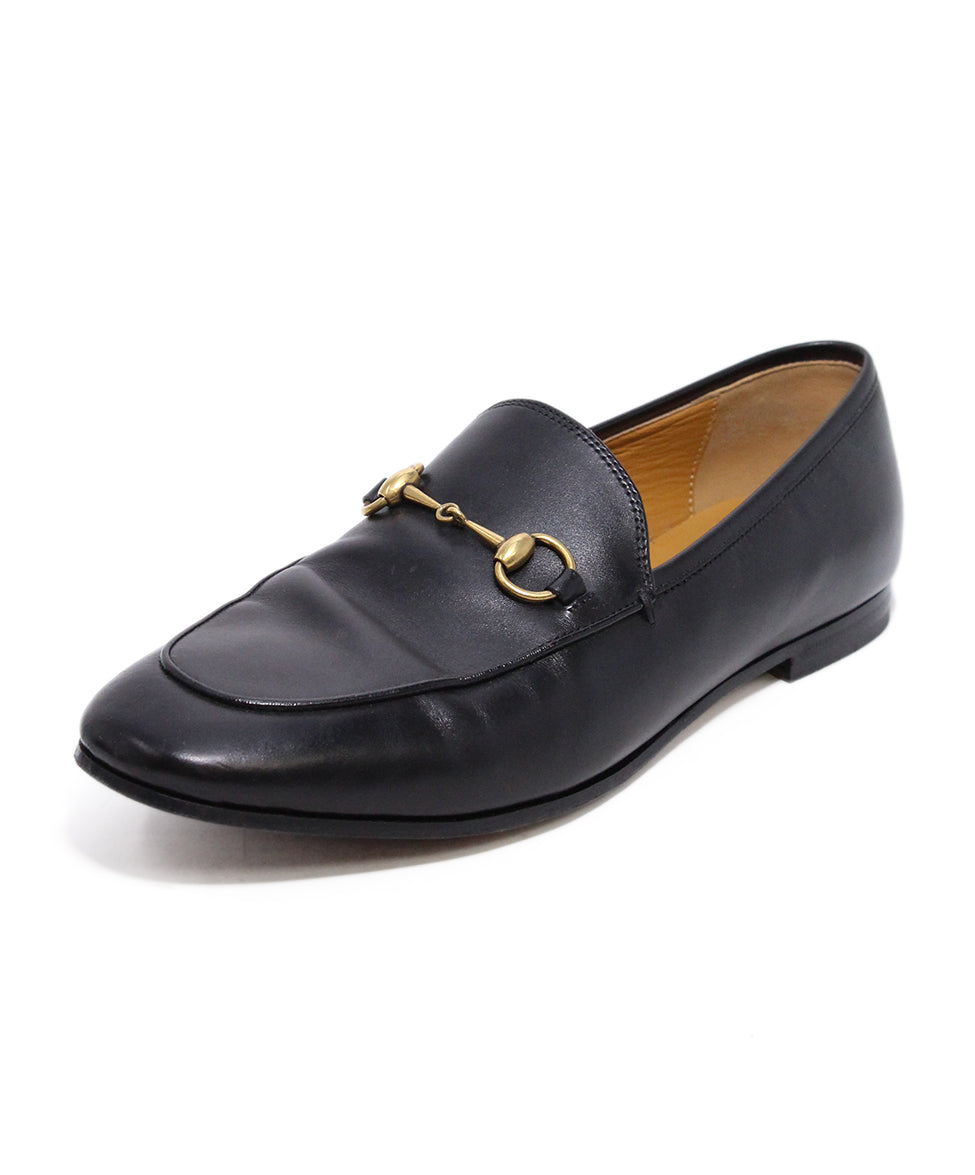 Gucci Black Leather Loafers 1