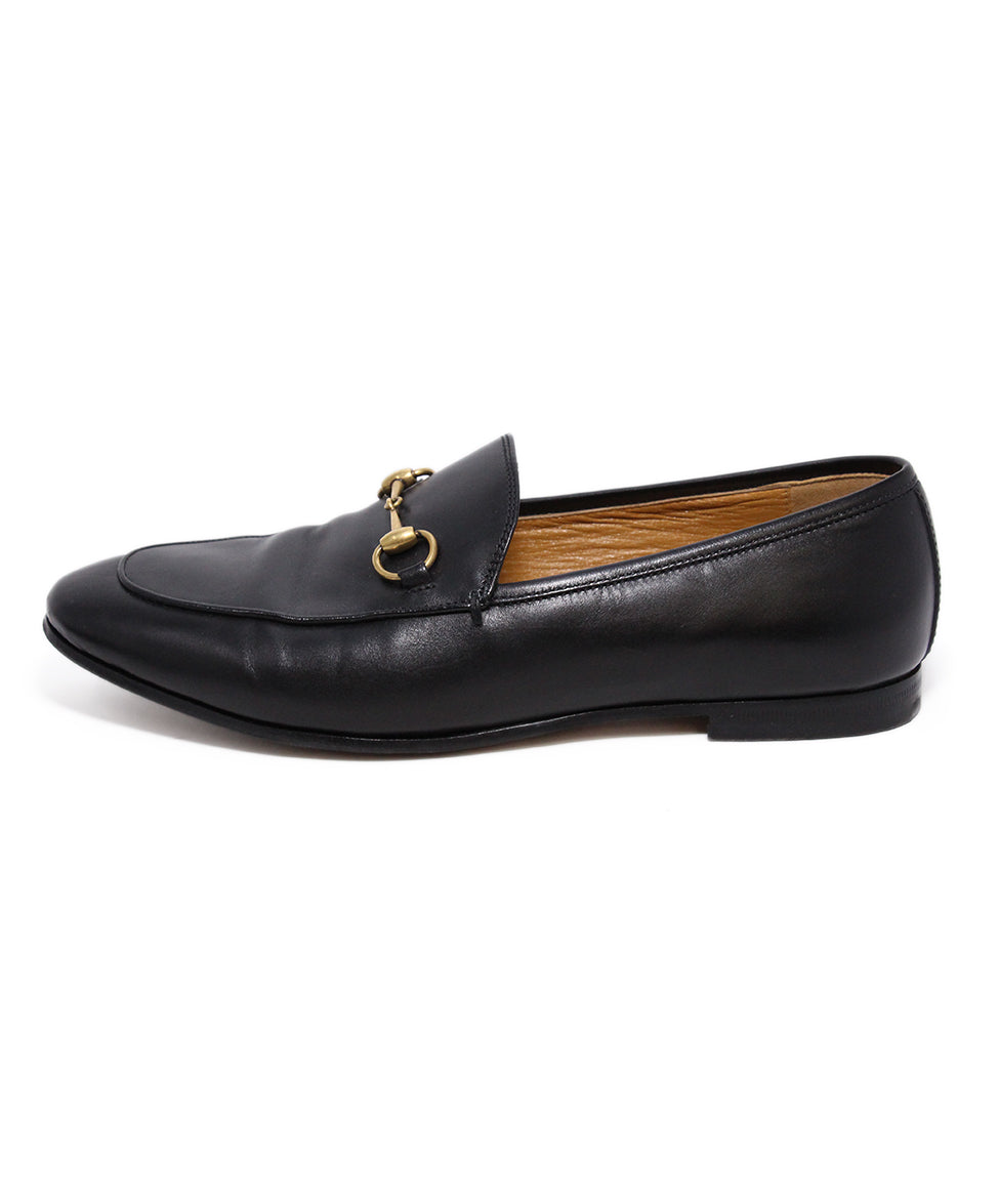 Gucci Black Leather Loafers 2