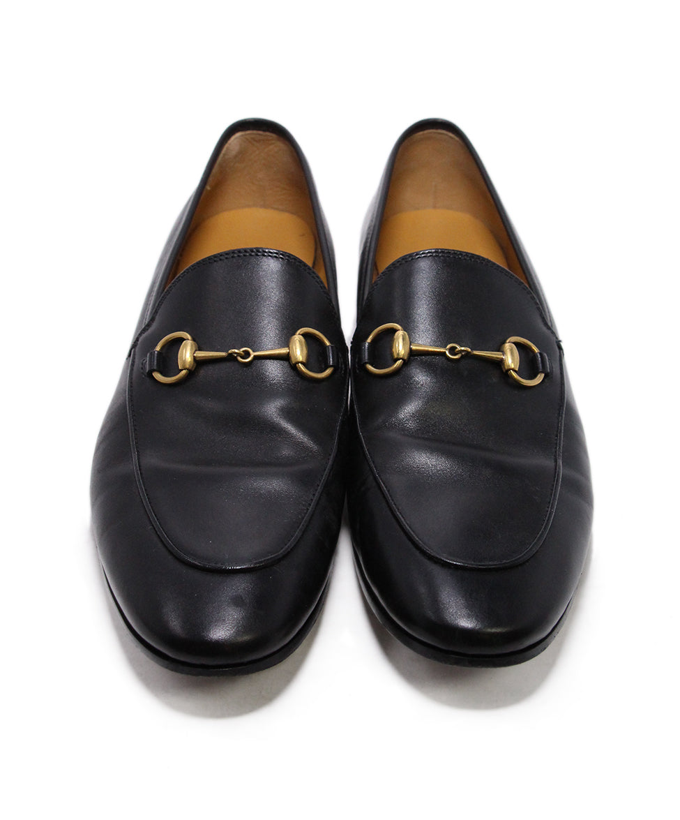 Gucci Black Leather Loafers 4