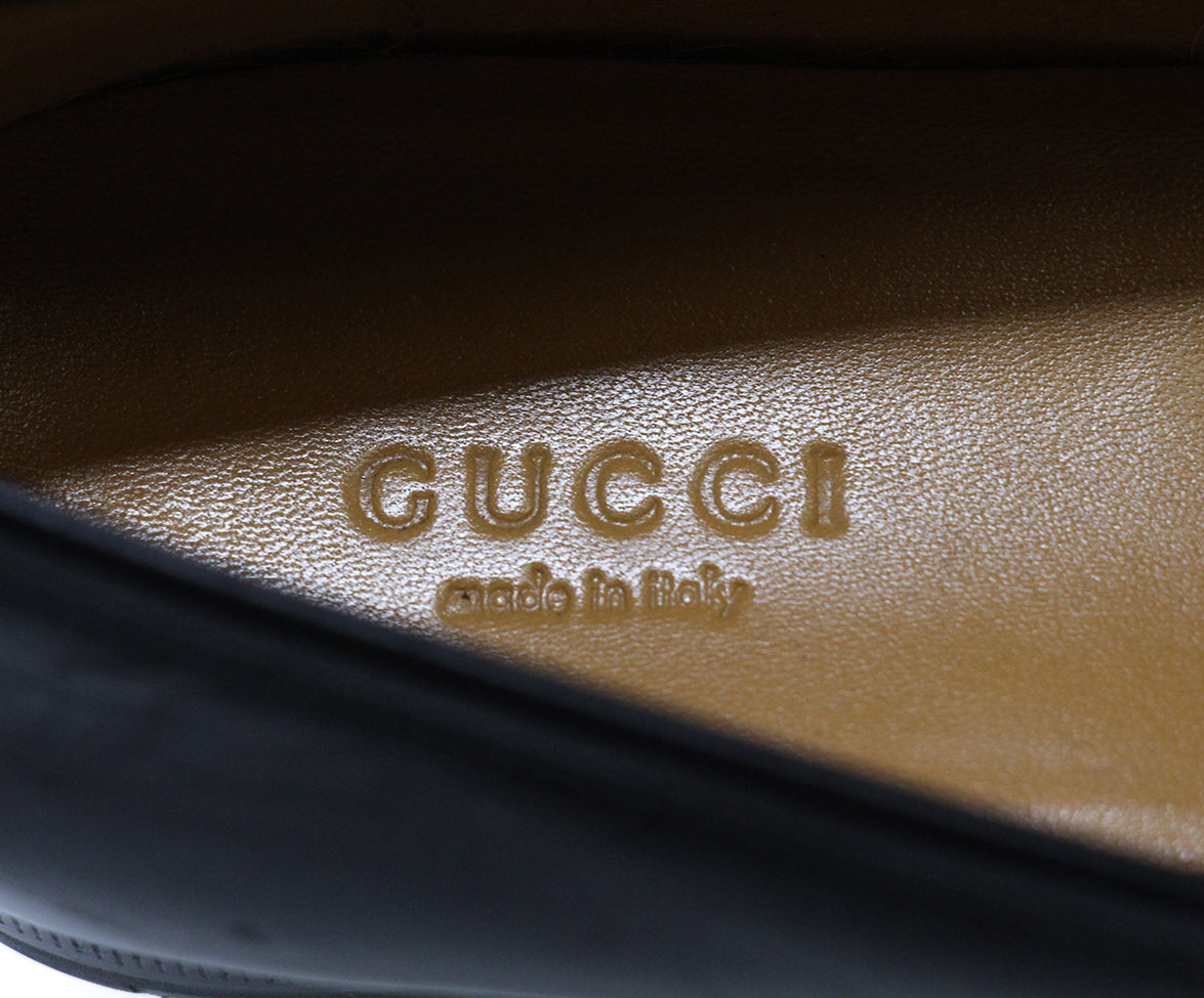 Gucci Black Leather Loafers 7