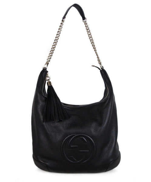 Gucci Black Leather Shoulder Bag 1