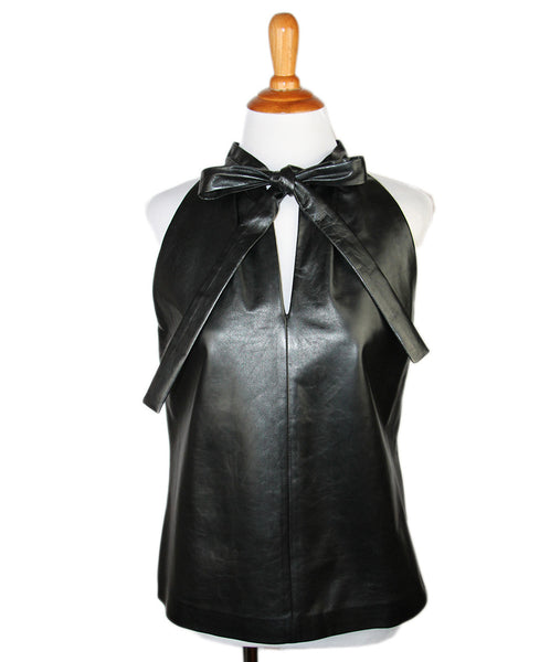 Gucci Black Leather Top Sz 4