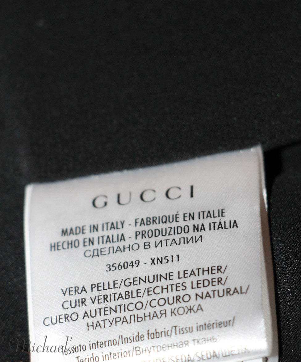 Gucci  Black Leather Top Sz 42