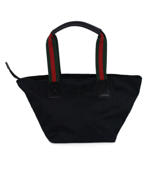 Gucci Black Monogram Red Green Canvas 1