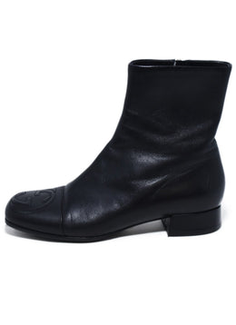 Gucci Black Leather Booties 2