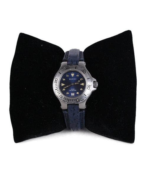 Gucci Blue Stainless Steel Watch 1