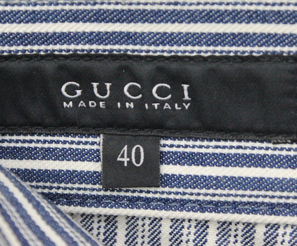 Gucci Blue and White Striped Denim Pants 3