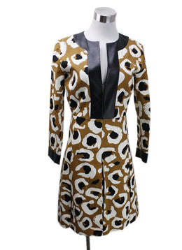 Gucci Brown Animal Print Dress