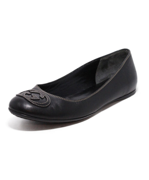 Gucci Brown Leather Flats 1