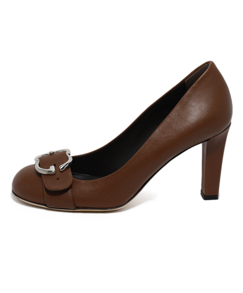 Gucci Brown Leather Heels 2