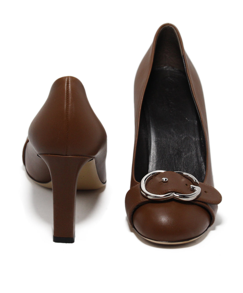 Gucci Brown Leather Heels 3