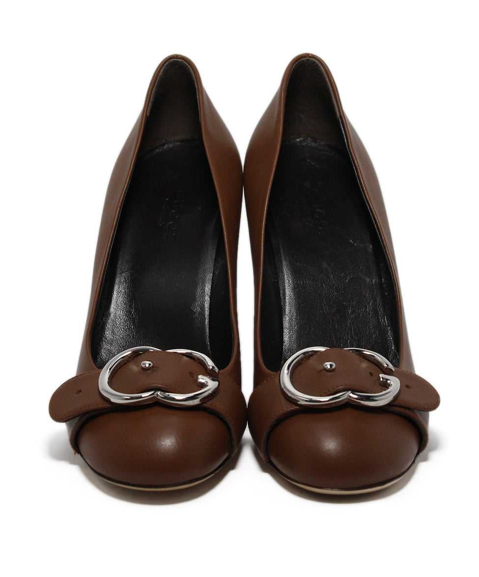 Gucci Brown Leather Heels 4