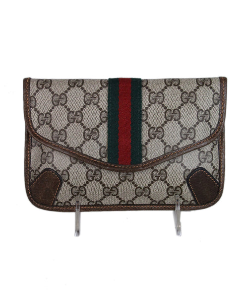 Gucci Brown Monogram Canvas Wallet 1