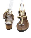 Gucci Brown Leather and Suede Sandals with Gold Accents 3