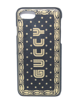 "Gucci Gold and Black ""Guccy"" Logo iPhone 7/8 Case 2"