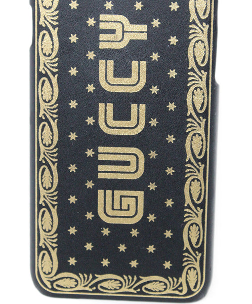 "Gucci Gold and Black ""Guccy"" Logo iPhone 7/8 Case 3"