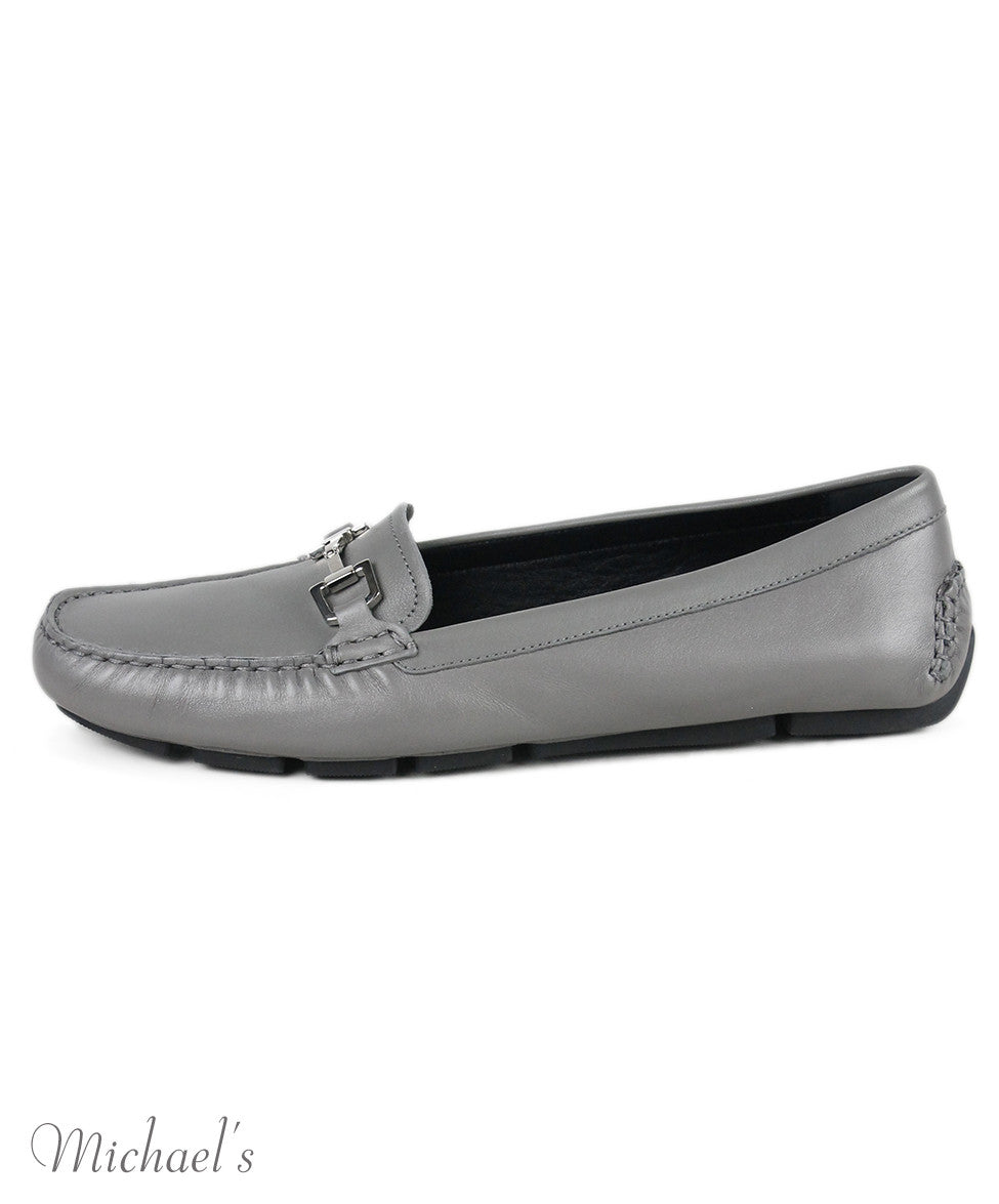 Gucci Grey Leather Shoes Sz 39