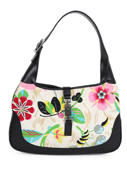 Gucci Floral Canvas Handbag 1