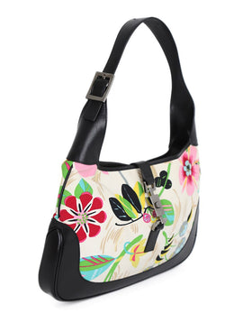 Gucci Floral Canvas Handbag 2