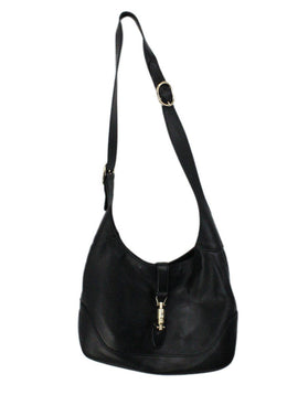 Gucci Jackie O Small Black Leather Shoulder bag 1