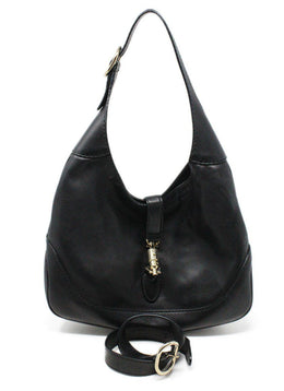 Gucci Jackie O Small Black Leather Shoulder bag 2