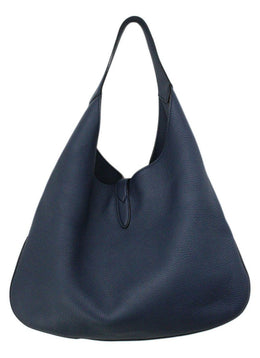 Gucci Jackie O Large Navy Pebbled Leather Shoulderbag 2