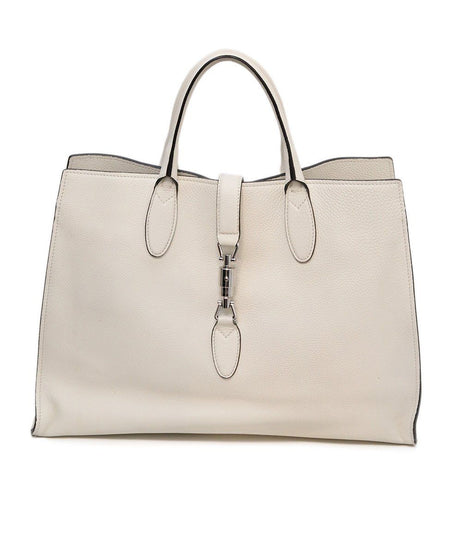 Bottega Veneta Back and White Large Woven Leather Arco Tote