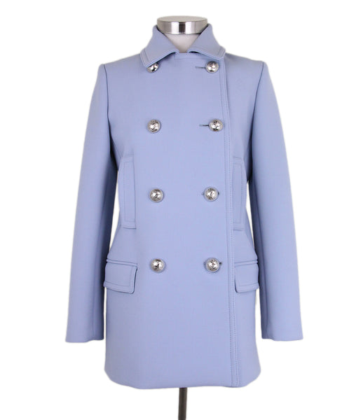 Gucci Light Blue Wool Coat 1