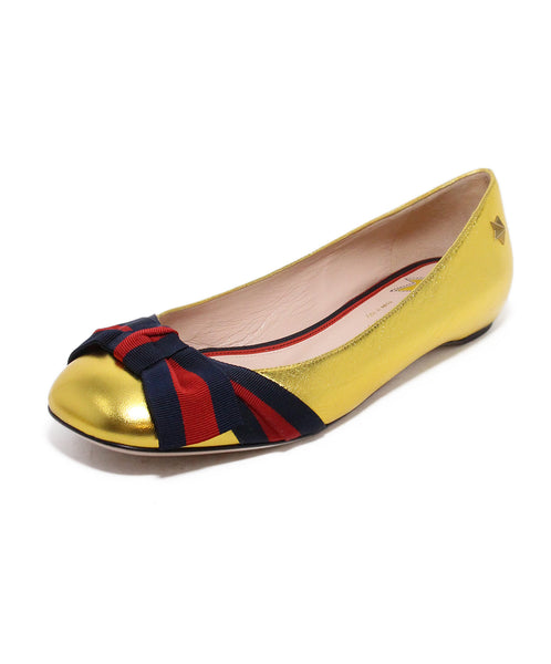Gucci Metallic Gold Flats 1
