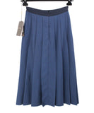 Gucci Navy Wool Pleated Skirt 2
