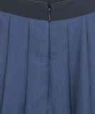 Gucci Navy Wool Pleated Skirt 3