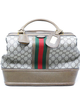 Gucci Vintage Monogram Canvas Doctors Bag